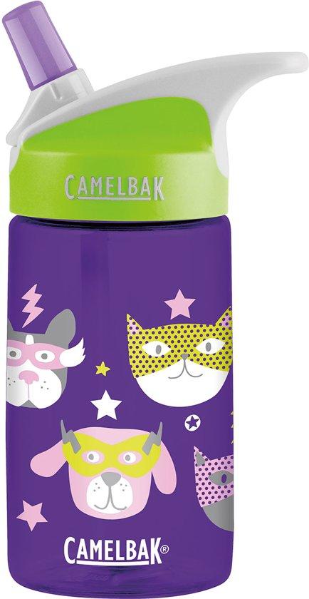 cb3b8758344 bol.com   CamelBak Eddy Kids-Drinkfles-400 ml-Paars (Heroes)