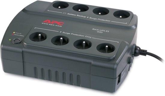 APC Back-UPS BE400-FR - Noodstroomvoeding / 8x penaarde (geschikt voor België) / 400VA