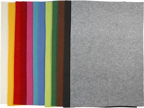 Hobbyvilt, vel 42x60 cm, kleuren assorti, 12 assorti vel