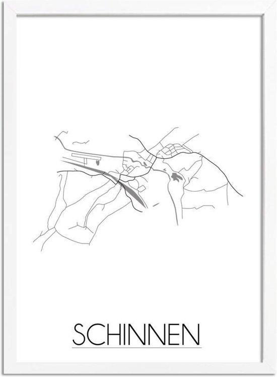 DesignClaud Schinnen Plattegrond poster A3 + Fotolijst wit