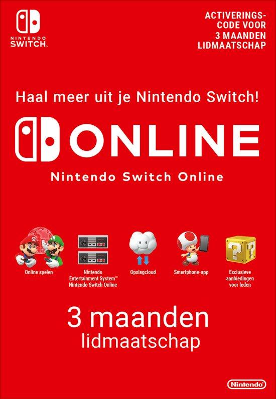 3 maanden Online Lidmaatschap - Nintendo Switch