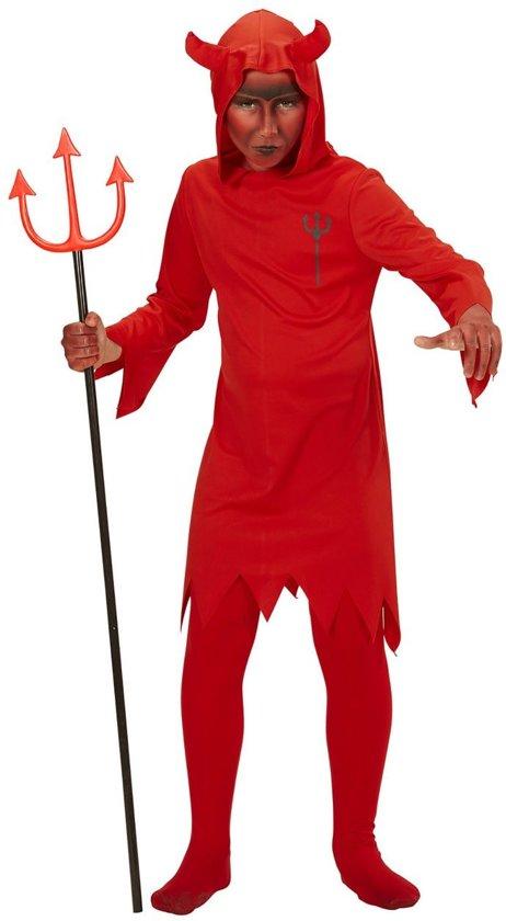 Halloween Verkleedkleding Kind.Duivel Kostuum Rode Duivel Kind Kostuum Maat 140 Halloween Verkleedkleding