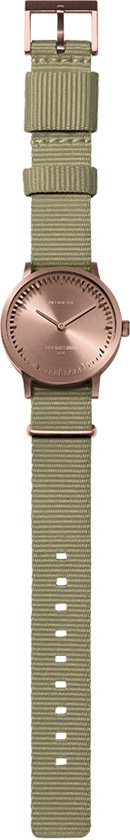 Tube watch T32 rose gold / sand nato strap