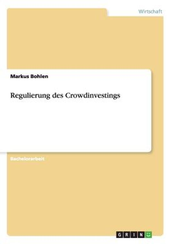 Regulierung Des Crowdinvestings