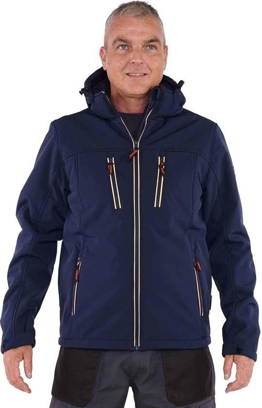 Storvik Softshell Werkjas Winter Heren Donkerblauw - Maat XL (54) - Clive