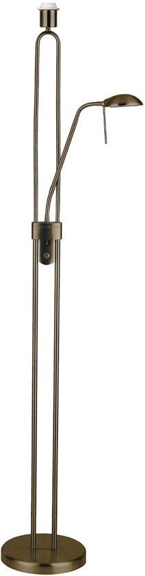 Light Depot - Vloerlamp Uplight - Brons - Leeslamp - Dimbaar - E27 - 160 cm - Zonder Lampenkap