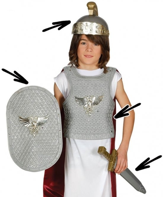 Romeinse ridder kostuum voor kinderen for Romeins schild