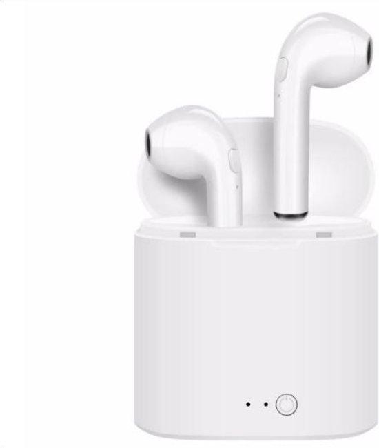 Draadloze bluetooth oordopjes - Draadloze headset - Alternatief voor de Airpods - Geschikt voor ALLE apparaten- incl. laderbox - WIT