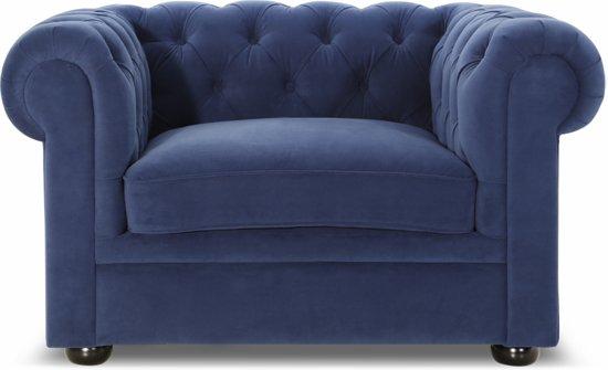 """Lanterfant Fauteuil Henry â"""" Velvet â"""" Mooie knoopdetails â"""" Royal Blue"""