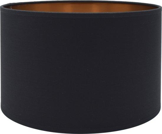 Light & Living MIRA Cilinder - lampenkap - Ø35 cm - Zwart Rose Goud