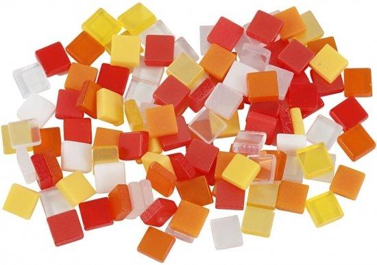 Mozaiek Tegels Outlet : Bol.com mozaiek tegels kunsthars rood oranje 5x5