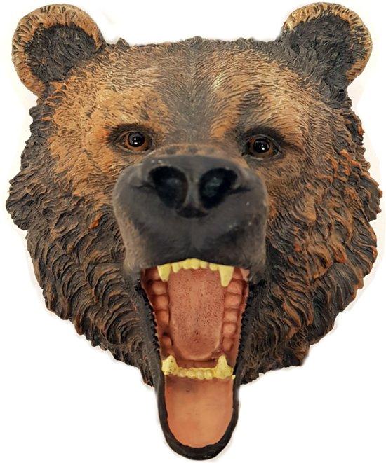 Wanddecoratie woonkamer berenkop aan de muur – decoratie voor wand beren kop