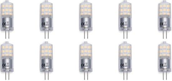 LED Lamp 10 Pack - Aigi - G4 Fitting - 3W - Warm Wit 3000K | Vervangt 25W - BSE