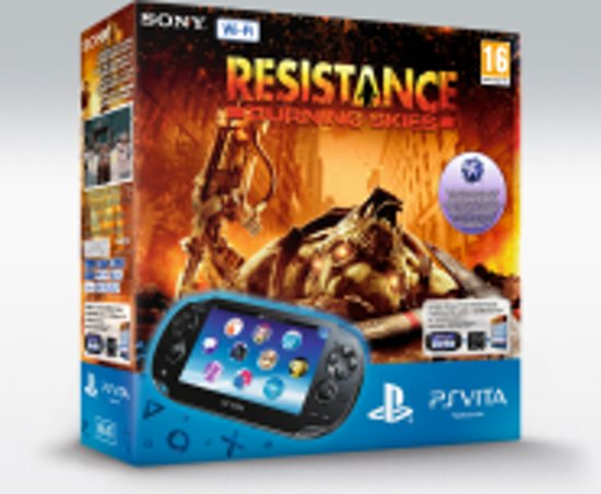 Sony PlayStation Vita Wifi + Resistance: Burning Skies Voucher + 4GB Memory Card
