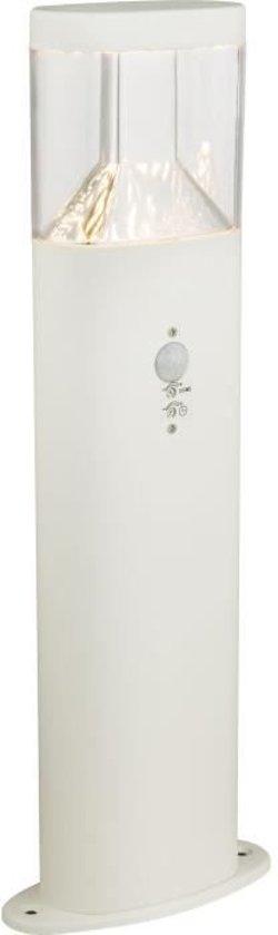 Globo Lighting Witte buitenpaal van roestvrij staal - Doorzichtig plastic - IP44 - Sensor: 90 �