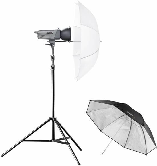 Walimex VE-150 Excellence apparatuurset voor fotostudio Zwart, Zilver, Wit