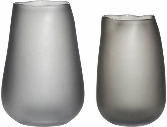 5 Mooie Vazen : Bol hübsch set vazen gerookt glas grijs