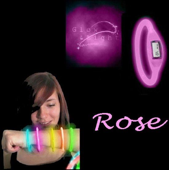 Glow in the dark horloge, rose