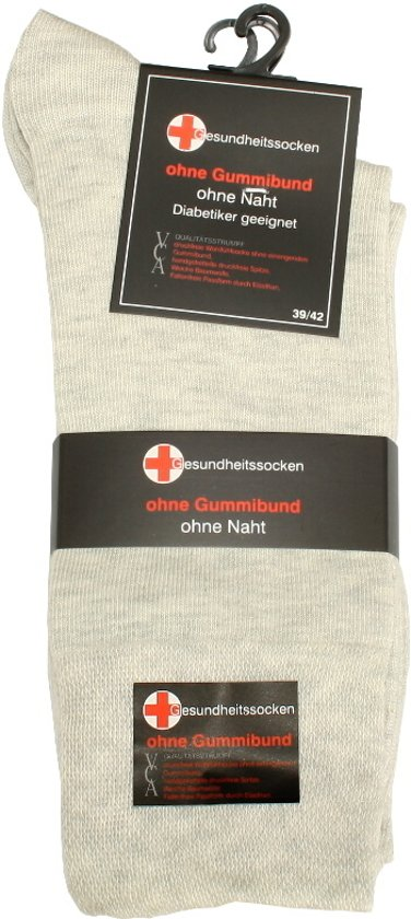 8d448c38abedbf Katoenen sokken – 3 paar – beige – zonder elastiek – zonder teennaad – maat  39