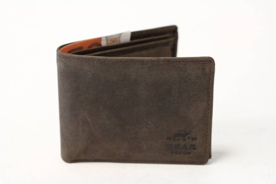 Billfold - leer - heren portemonnee - Eagle - bruin