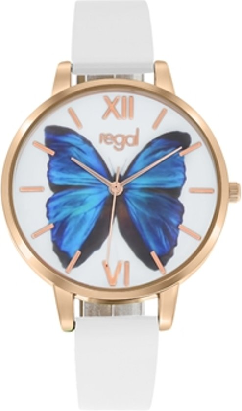 Regal - Regal horloge met een witte leren band