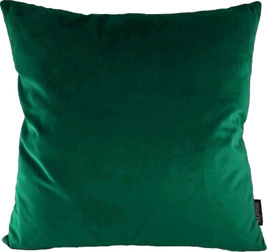 Velvet Dark Green Kussenhoes   Fluweel - Polyester   45 x 45 cm   Groen