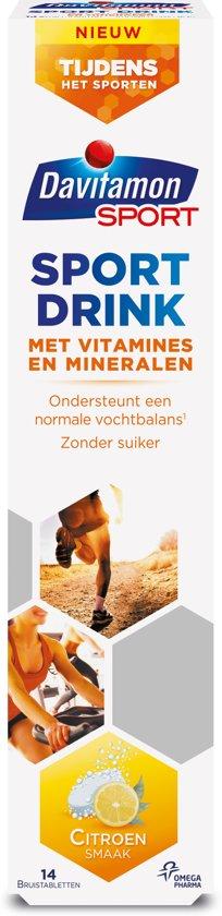 Davitamon Sport Drink - Mineralen en Zouten  - Sportvoeding - Brui stuksablet 14 stuks