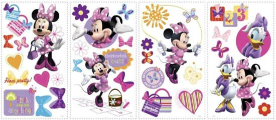 Muurstickers Disney Babykamer.Disney Minnie Mouse Muurstickers Multi