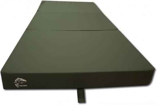 Logeermatras - camping matras - veld matras - opvouwbaar - 80 x 200 x 10 - donker groen