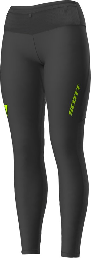 Scott RC Run Full Tight Dames Zwart/Geel