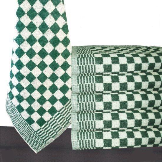 Homéé - Keukendoek groen / wit 100% katoenen badstof | set van 6 stuks | 50x50cm