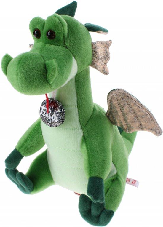87b8ec8cc687b9 bol.com | Trudi Pluchen Draken Knuffel 24 Cm Groen, Trudi | Speelgoed