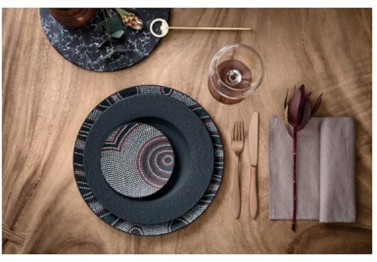 Villeroy & Boch Manufacture Rock Desert Gourmetbord à 31,5 cm