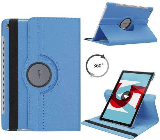 Huawei MediaPad M5 10.8 draaibare hoes Licht Blauw