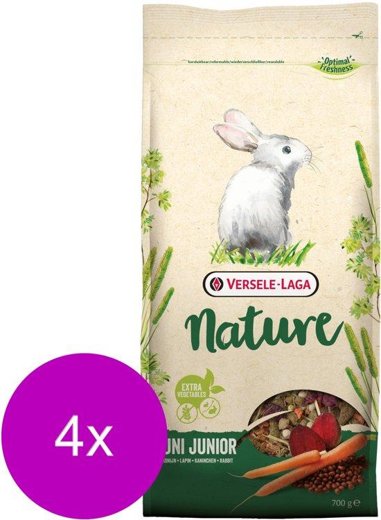 Versele-Laga Nature Cuni Junior - Konijnenvoer - 4 x 700 g
