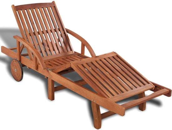 Ligstoel Voor Tuin : Bol vidaxl houten ligstoel verstelbaar in posities