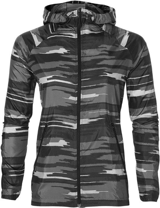 Asics fuzeX Sportjas - Maat L  - Vrouwen - grijs/zwart/wit