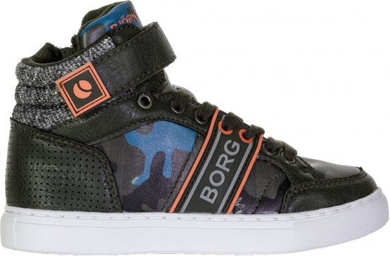 Bjorn Borg T210 Mid Cam Sneakers Junior  Sportschoenen - Maat 40 - Unisex - groen/oranje/blauw