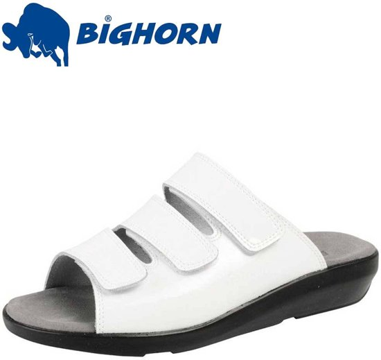 BigHorn 3001 Wit Slippers Dames