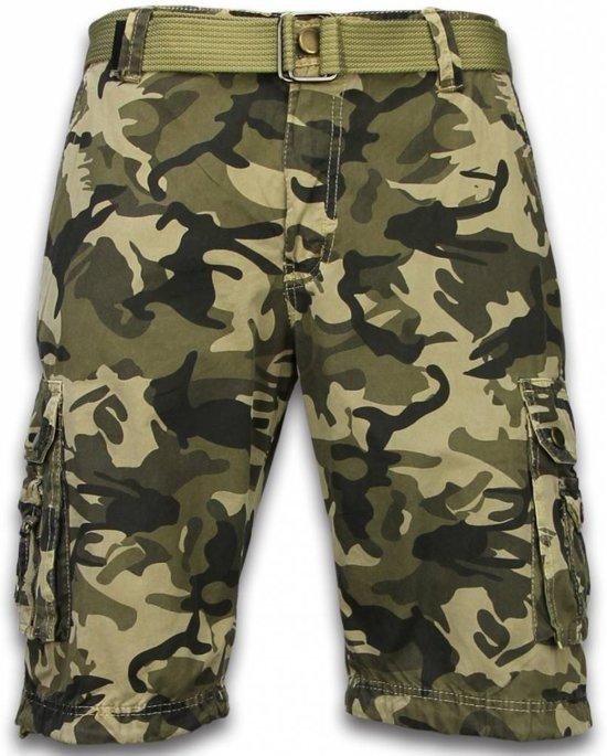 Korte Broek Camouflage Heren.Bol Com Forex Korte Broek Heren Camo Regular Fit Side Pocket