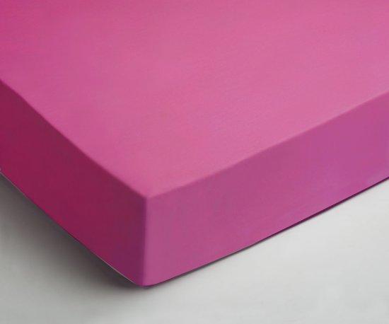 Comfortabele Jersey Hoeslaken Fuchsia | 140x200| Heerlijk Zacht En Soepel | Ideale Pasvorm
