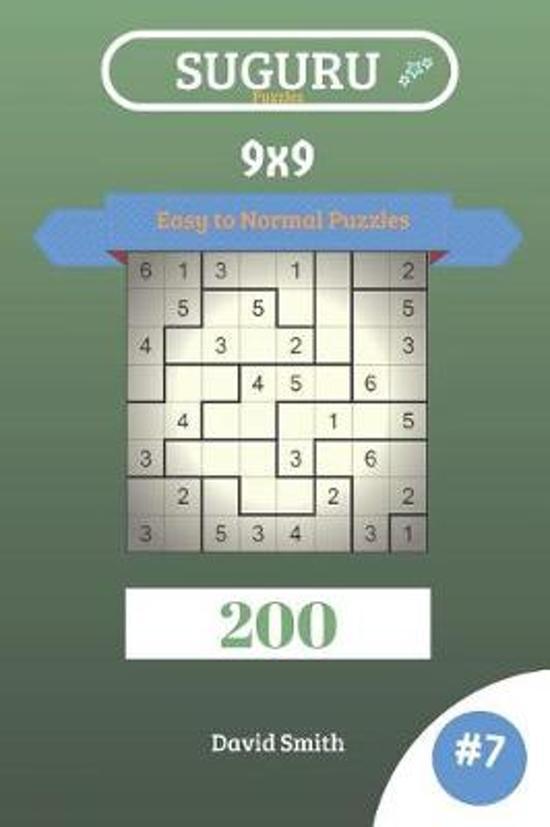 Suguru Puzzles - 200 Easy to Normal Puzzles 9x9 Vol.7