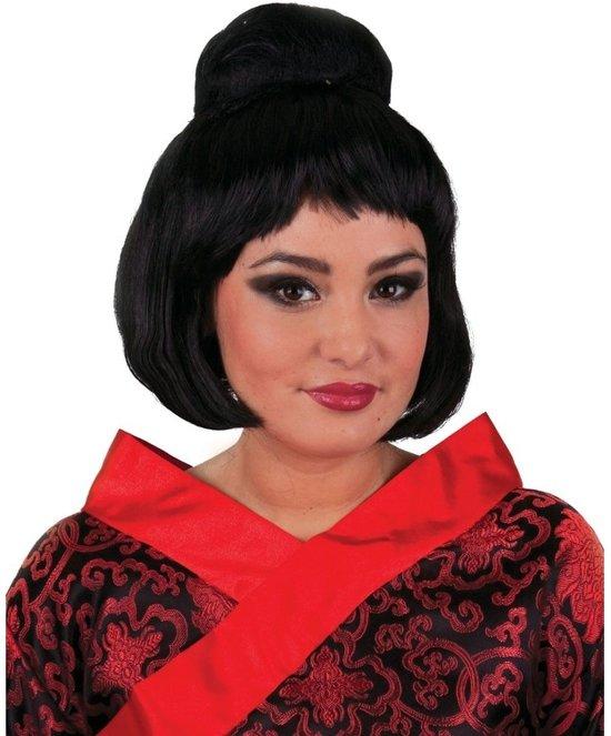 Japanse Geisha pruik met hoge knot