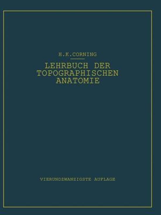 bol.com | Lehrbuch Der Topographischen Anatomie | 9783642533068 ...