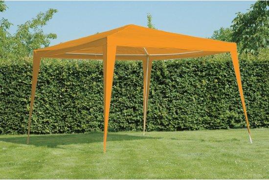 Partytent paviljoentent tent 3x3 meter kleur oranje waterdicht - Tent voor terras ...
