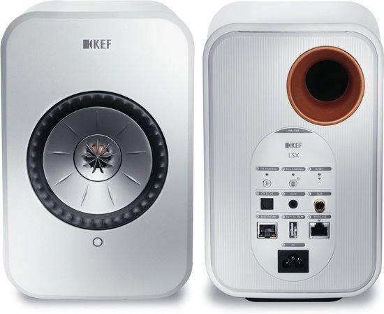 KEF LSX wireless stereo systeem Wit