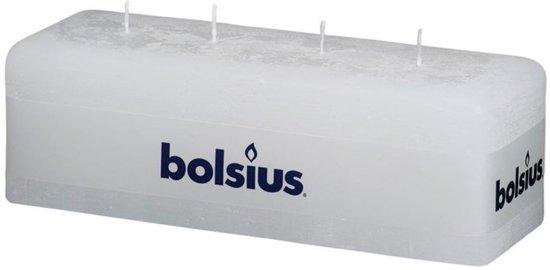 Bolsius Rustiekkaars 80/250/90mm wit