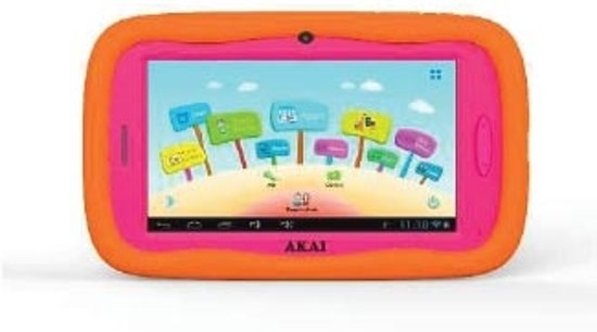 Roze Kinder Tablet.Akai Atab701 4gb Roze Oranje Kinder Tablet