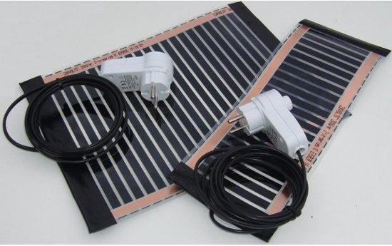 Reptielverwarming, Terrarium verwarming 20x25cm-30W-600W/m2   Compacte en dunne IR elementen