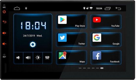 Universele 2 DIN 7 Autoradio Navigatie Android 8.1 met Playstore